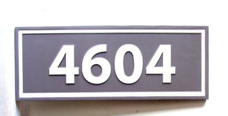 KA20873 - Carved Apartment or Condo Number Address Sign
