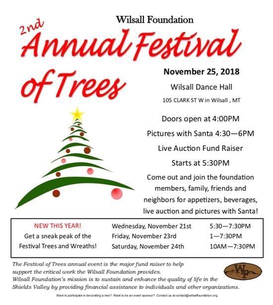 Festival of Trees: Wilsall Foundation