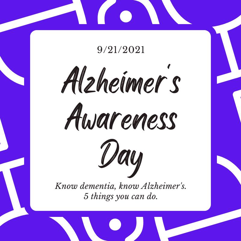 Raising Awareness for World Alzheimer's Day