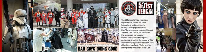 Vader's Fist - The 501st Legion cosplay group will be at Cradle-Con!