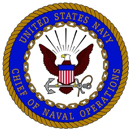 JP-1200 -  Carved Plaque of the Seal  of the Chief of Naval Operations, Artist Painted
