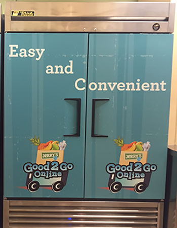 Jerry's Foods Edina Refrigerator Door Wrap
