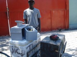 A Recent Shipment to Haiti is Distributed