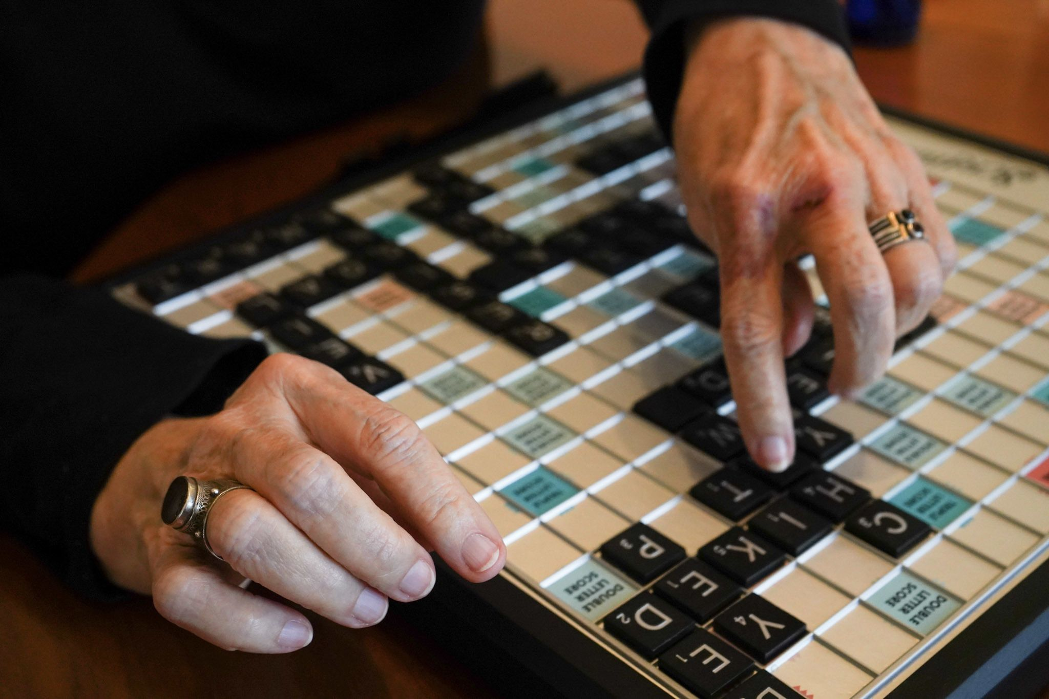 Scrabble board (get it? for the borard?)