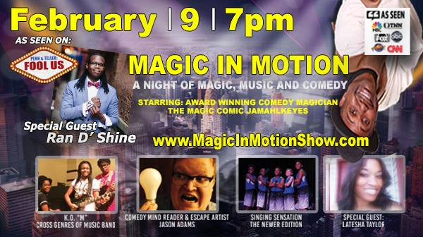 Things To Do In Indianapolis Magic and Comedy Show featuring Jamahl Keyes