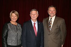 Jean and Greg with the Governor