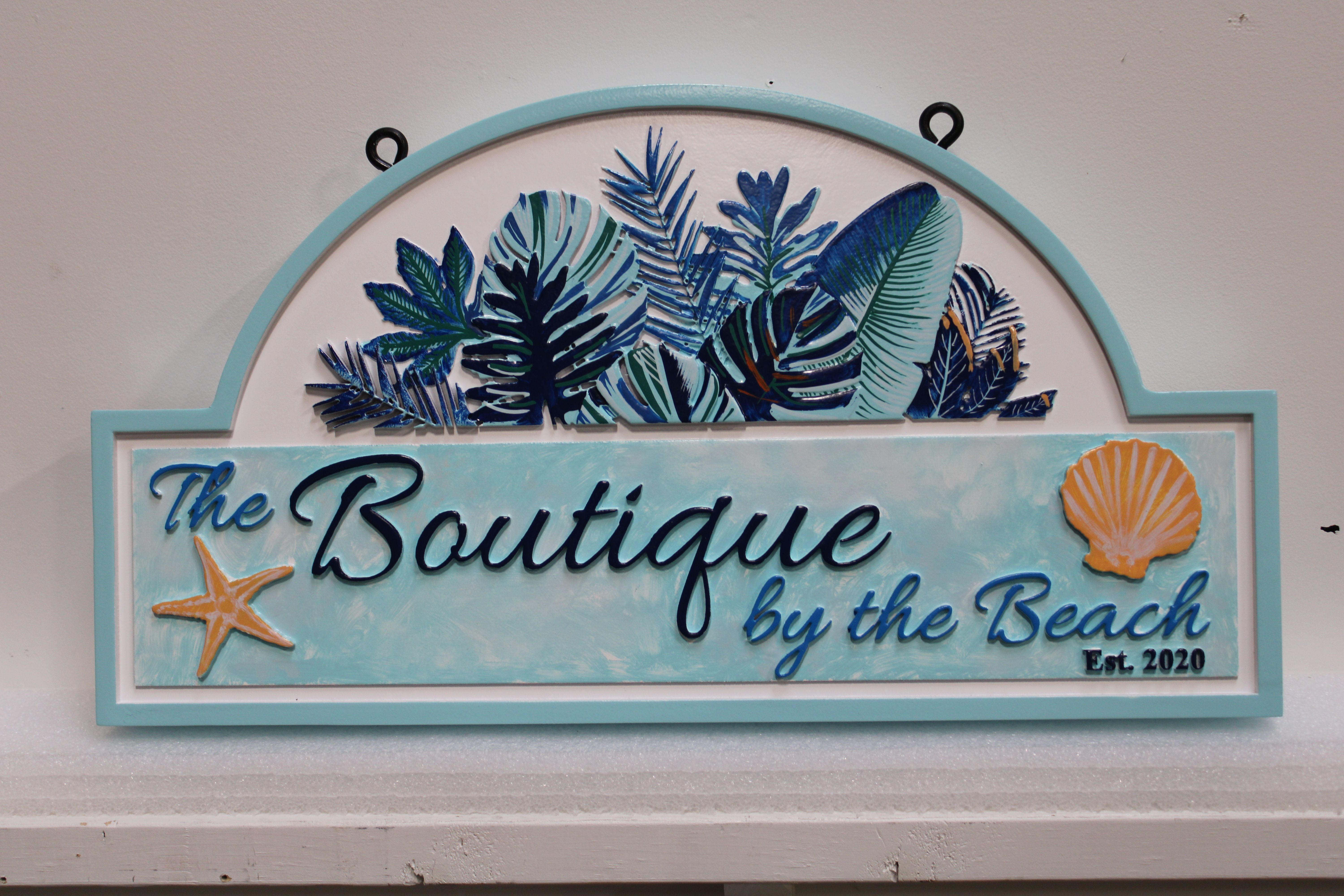 """M1830 -  Elegant Entrance Hanging sign for """"Boutique by the Beach"""" (Gallery 20)"""