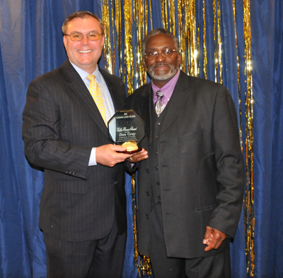 Sangamon County Clerk Don Gray (winner of the Public Servant Award) and Pastor Silas Johnson