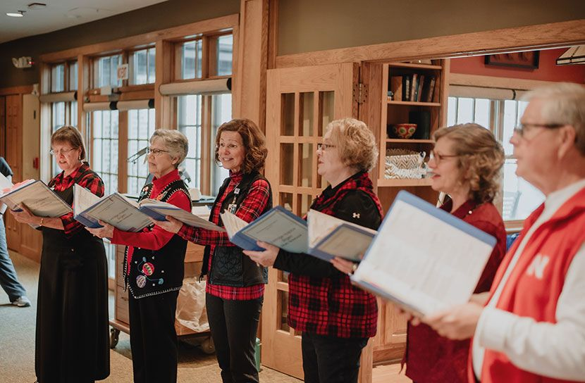The Eastridge Hospice Singers perform at Tabitha Residence—Martin House, located at Tabitha's main campus in Lincoln.