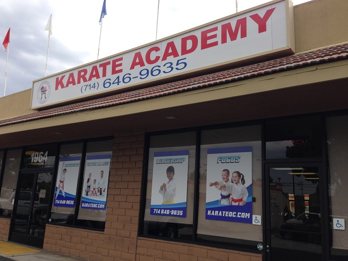 Karate School Window Graphics Orange County
