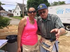 Regular Volunteers embracing our Families