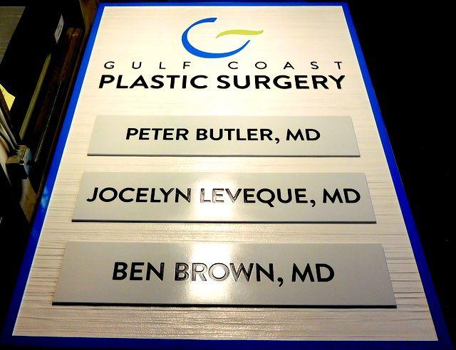 B11013 - Carved and Sandblasted High-Density-Urethane (HDU( Sign for  Gulf Coast Plastic Surgery