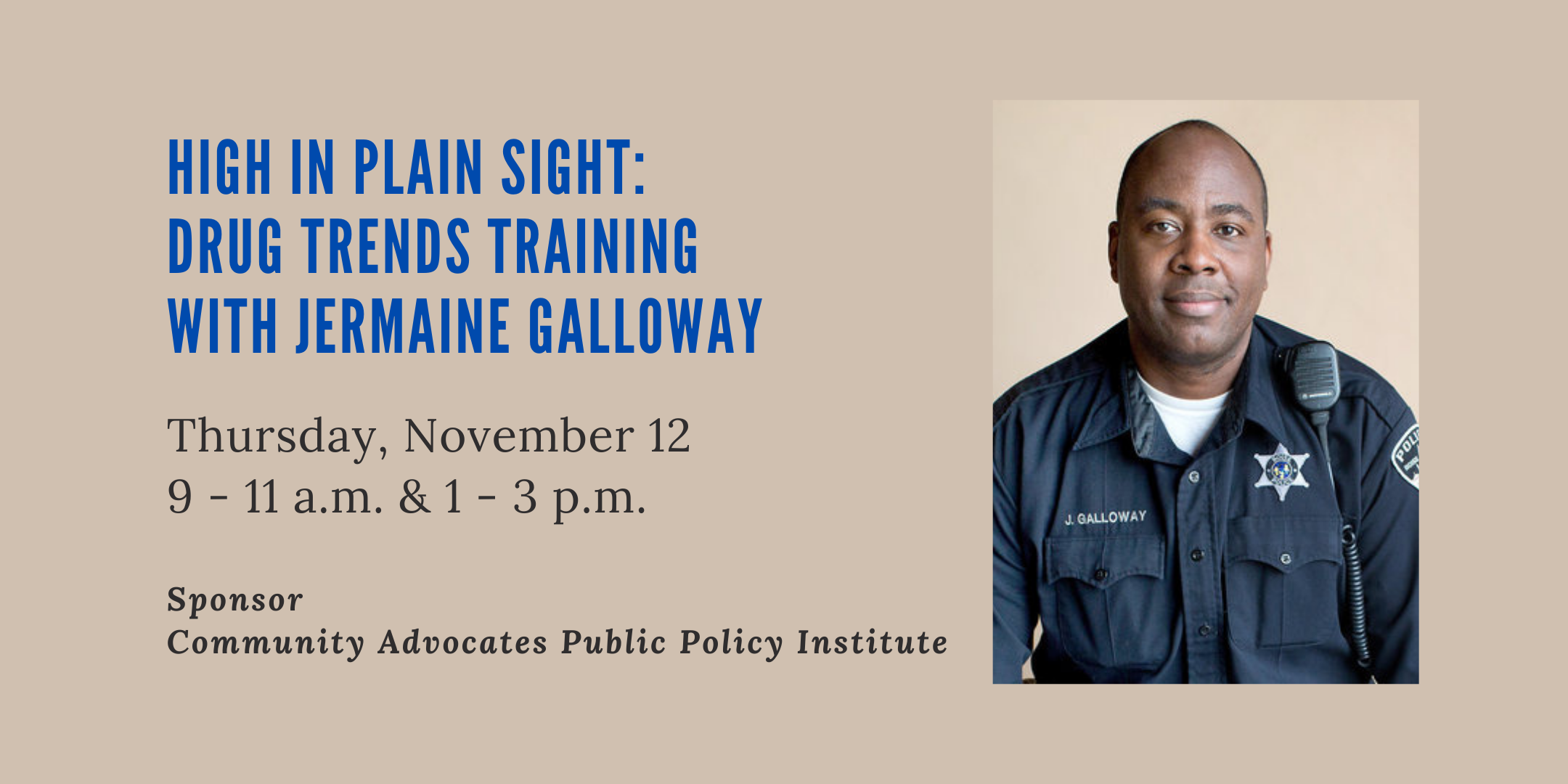High in Plain Sight: Drug Trends Training with Jermaine Galloway