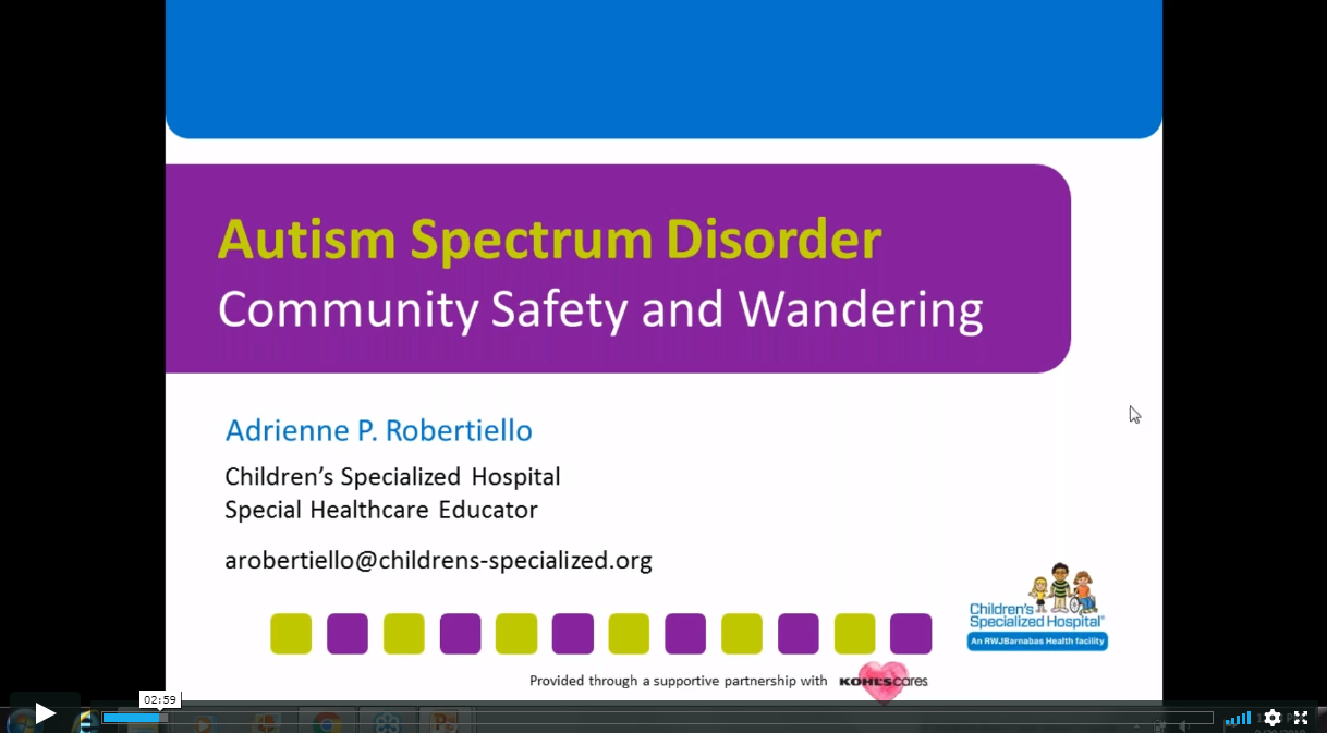 Community Safety & Wandering Prevention for Children and Adults with Intellectual and Developmental Disabilities