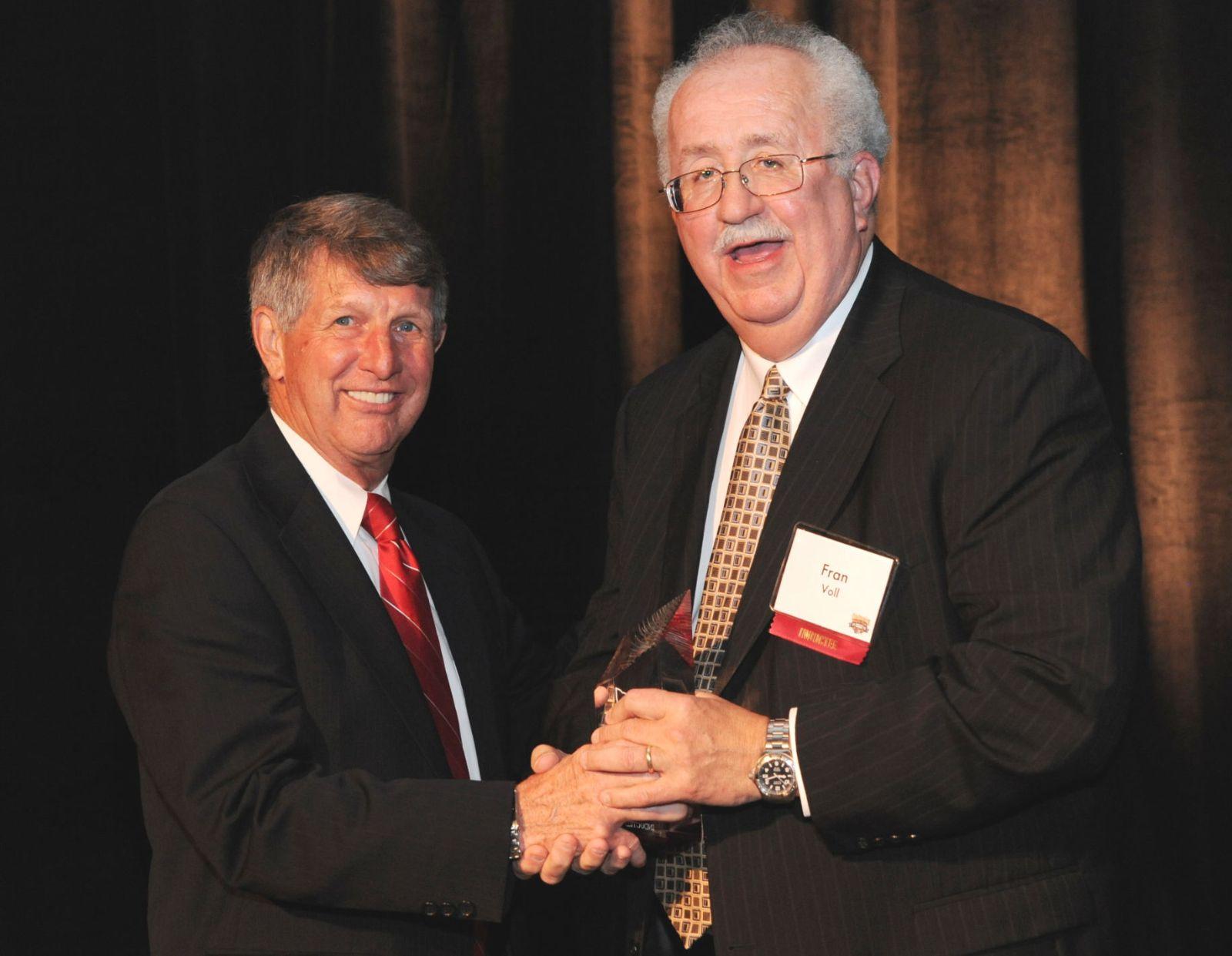 Fran Voll with Award