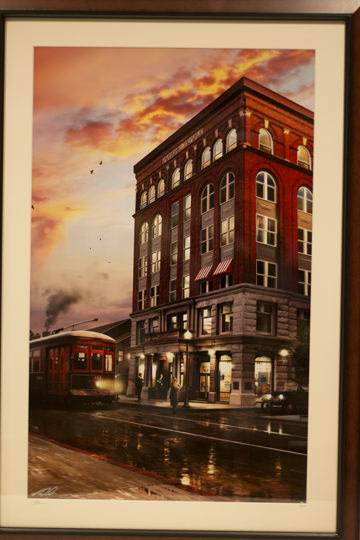 The Zanesville Masonic Temple Building Painting - Donated by the artist, Ron Cole