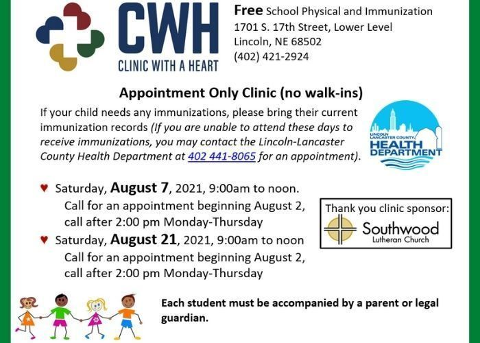 Free School Physicals and Immunizations