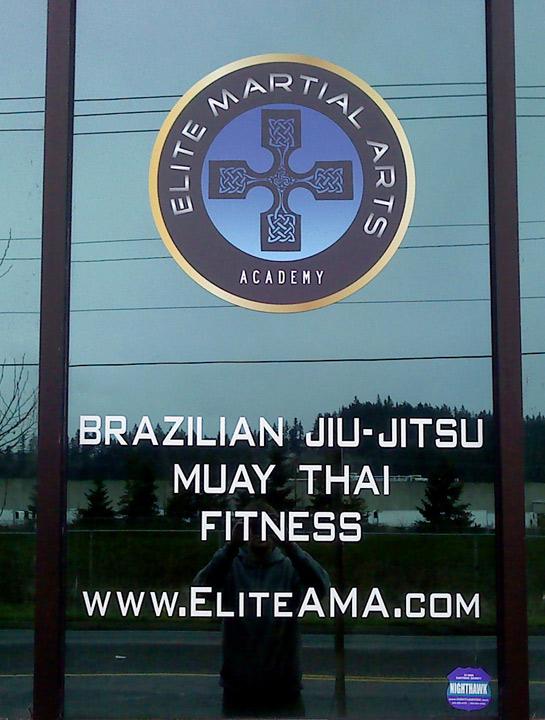 Elite Martial Arts Window Lettering