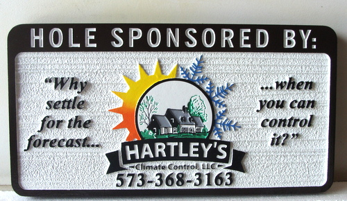 E14578 - Sandblasted HDU Golf Hole Sponsor Sign