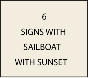 L21250 - Signs of Sailboat and Sunset