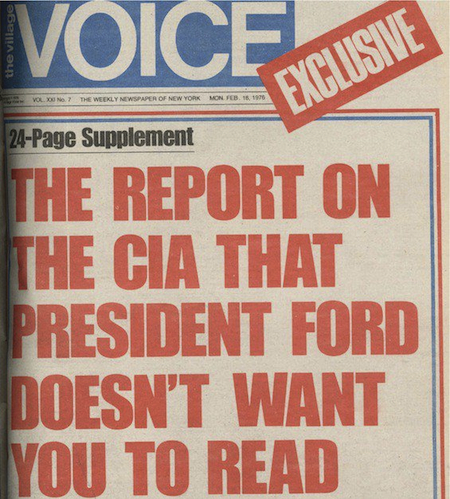 "1976: ""Village Voice"" Published Full Pike Report"