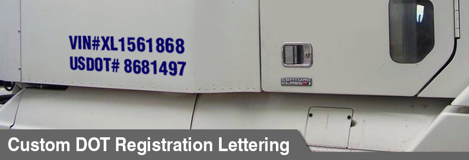 DOT Registration Lettering