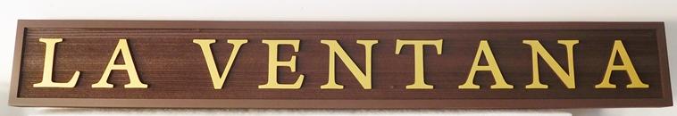 "I18951- Carved 2.5-D and Sandblasted Cedar Property Name Sign, ""La Ventana""."
