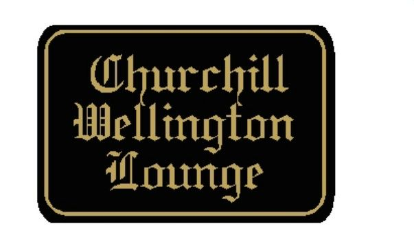 """N23632 - Ornate English  2.5-D Carved HDU  Wall Plaque for """"Churchill Wellington Lounge"""""""
