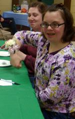Family coordinates bunco night for Park Lawn