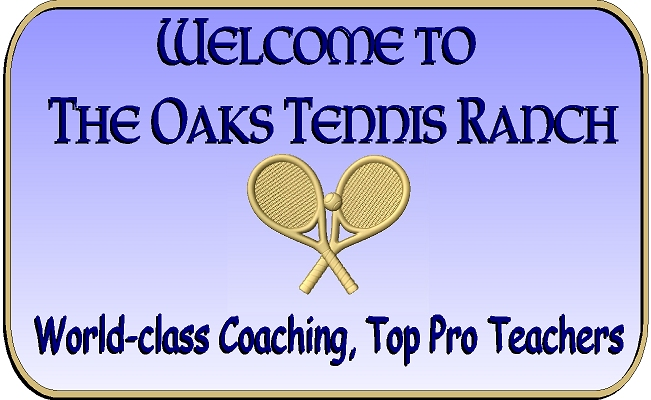 GB16846 - Carved HDU  Entrance Sign for the Oaks Tennis Ranch