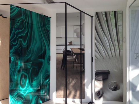 Showroom vinyl wall murals Orange County