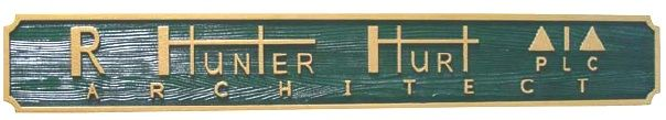 SA28572 - Attractive, Carved and Sandblasted Cedar Wood Name Plate for Architect