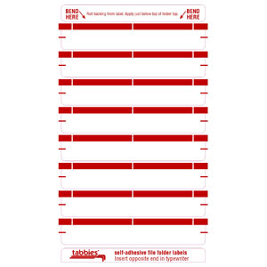 59432 - Red Color Bar Name Labels
