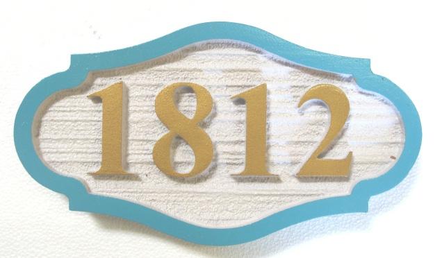 I18846 - Sandblasted HDU Address Number Plaque