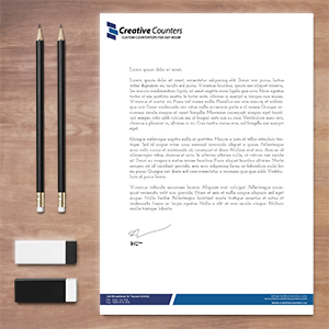 Request an estimate for printing letterhead.