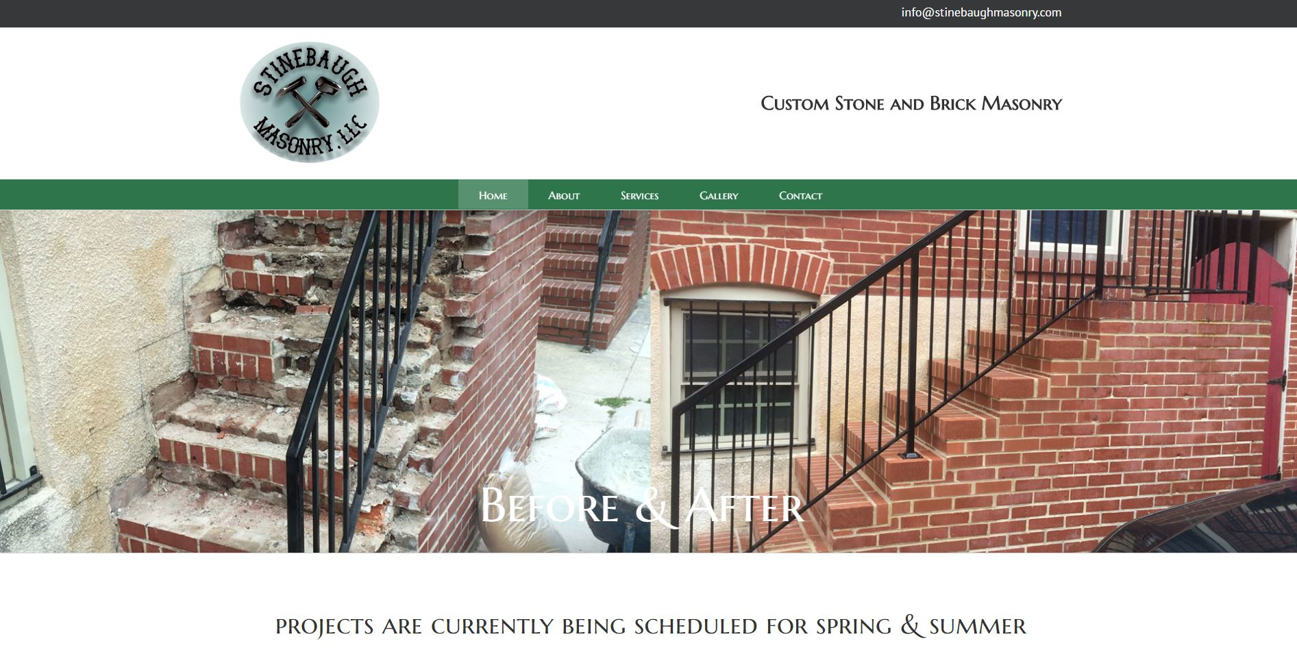 Stinebaugh Masonry: Web Development