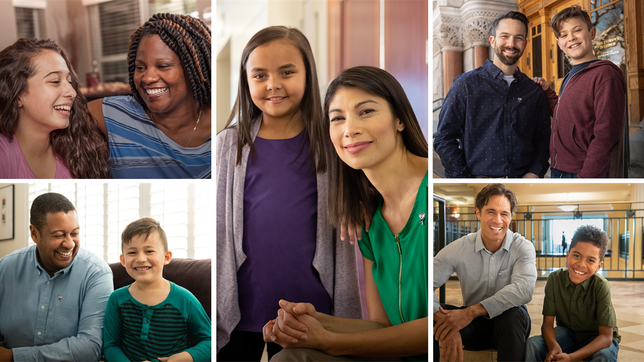 A collage of the National CASA photos