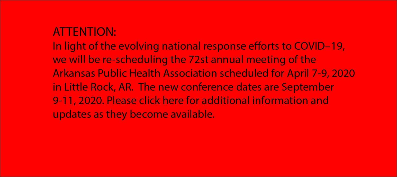 ArkPHA conference rescheduled