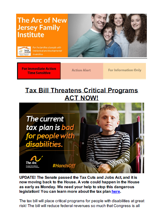Time Sensitive Tax Bill Threatens Critical Programs 12.04.2017