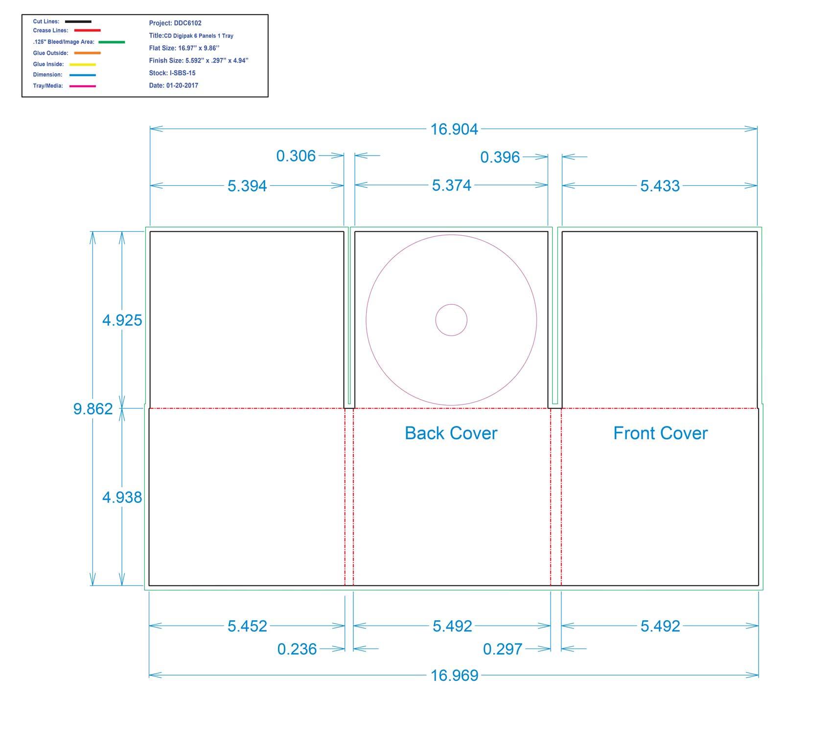 DDC6102 - 6 Panel CD Digi One Tray No Pocket