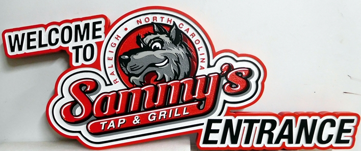 M1674 -  Entrance Sign for Sammy's Tap and Grill (Gallery 27)
