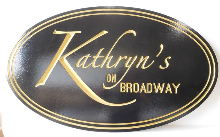 "SA28075 - Elegant Carved High Density Urethane Sign for Women's Clothing Store, ""Kathryn's""."