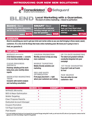 Search Engine Marketing Sheets