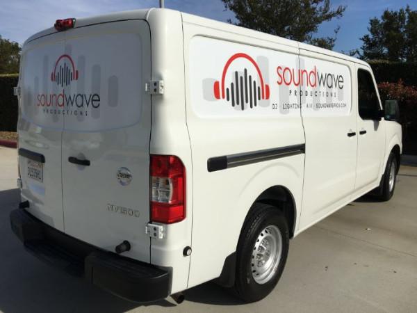Nissan Cargo Van Graphics in Orange County CA