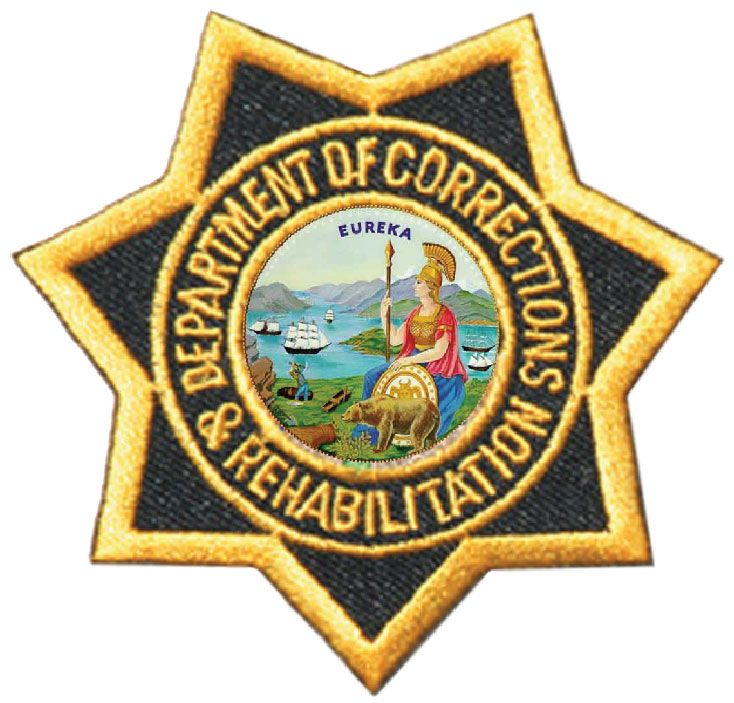 X33720- 2.5-D Carved HDU Wall Plaque of Star Patch for California Prison System