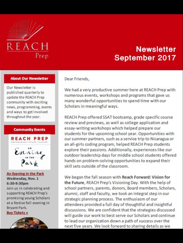 Newsletter: September 2017