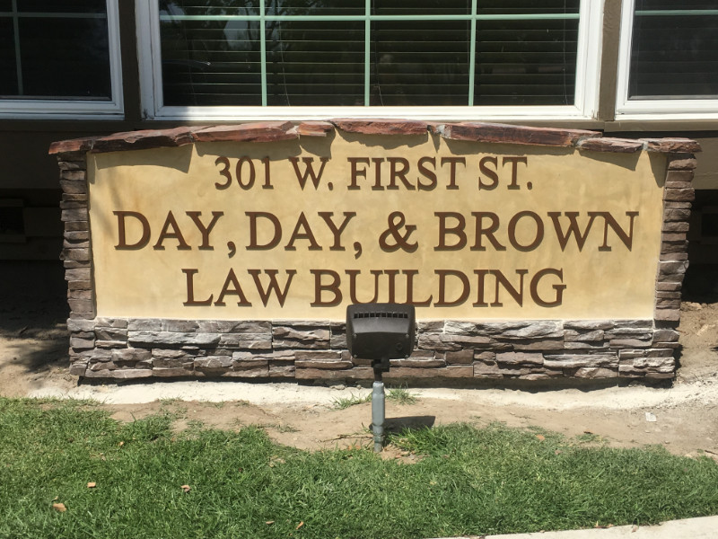 Day, Day and Brown - Monument Sign