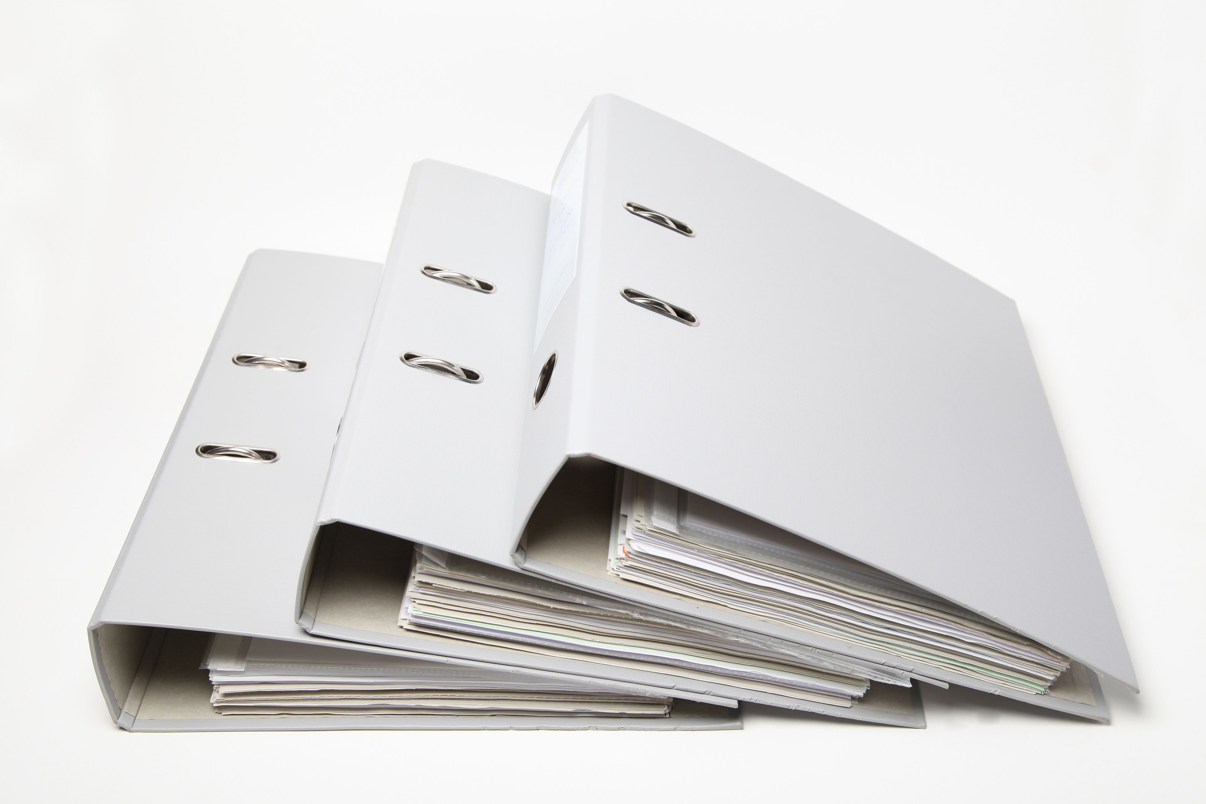 Three-ring binders produced in Owings Mills, Maryland.