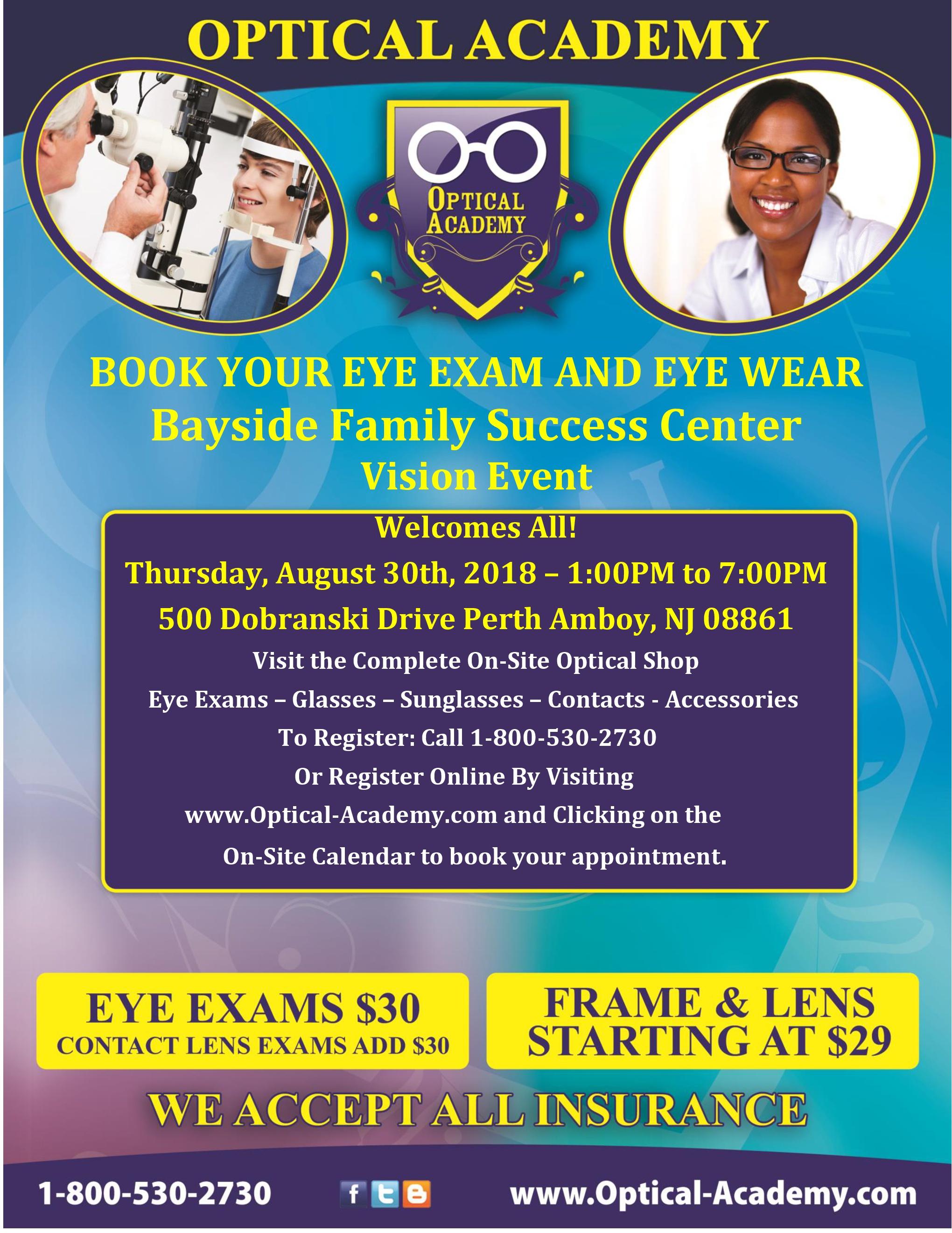 Optical Academy eye exam day
