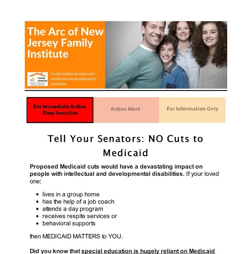 Tell Your Senators: NO Cuts to Medicaid 05.25.17